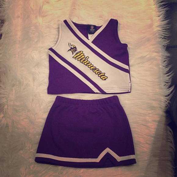 ef063bb9a NFL Matching Sets | Minnesota Vikings Toddler Cheerleaders Outfit ...